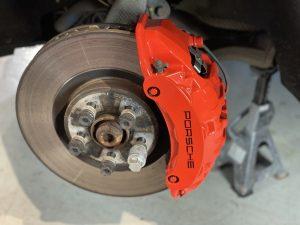finished porsche brake callipers